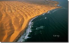 The Skeleton Coast, half-way between Walvis Bay and Luderitz, Namib-Naukluft Park, Namibia