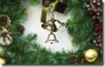 Silver bells on a wreath