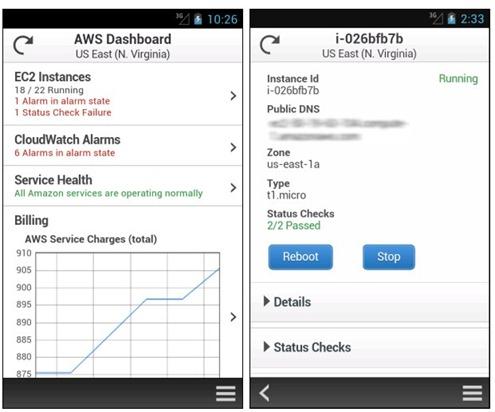 AWS console improvements - mobile - unpocogeek.com