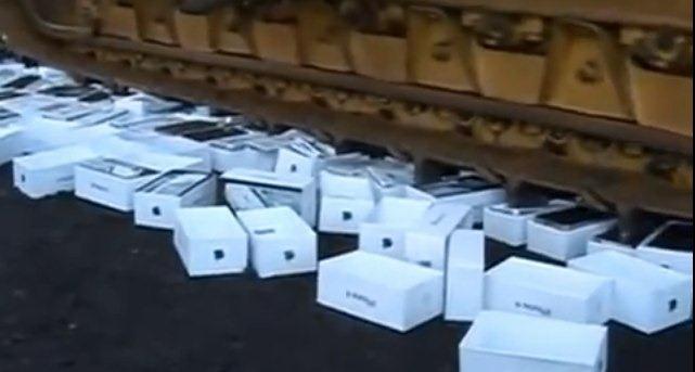 Aplastando copias ilegales de iPhones