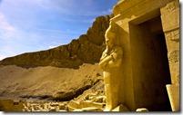 Osirian statue at Mortuary Temple of Queen Hatshepsut, Deir el-Bahari, Egypt