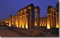 Solar courtyard and colonnade built by Amenhotep III and Tutankhamun, Luxor, Egypt