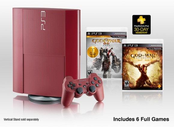 God of War garnet red ps3 edition - unpocogeek.com