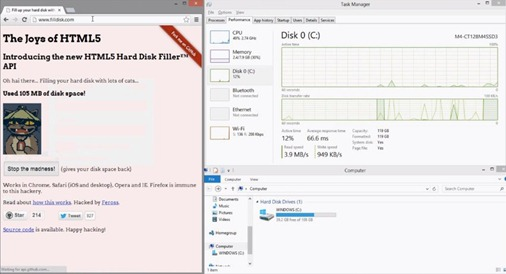 FillDisk HTML5 exploit - unpocogeek.com