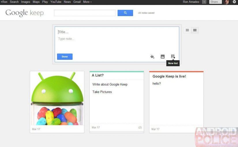 Google prepara su servicio de notas a lo Evernote