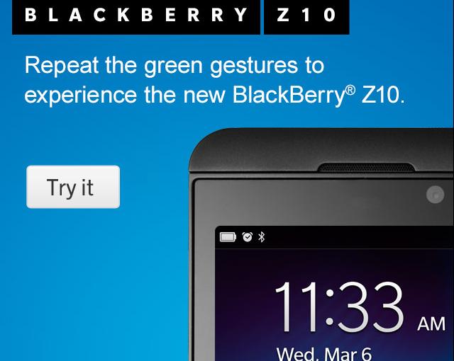 Prueba BlackBerry 10 desde el navegador de tu móvil