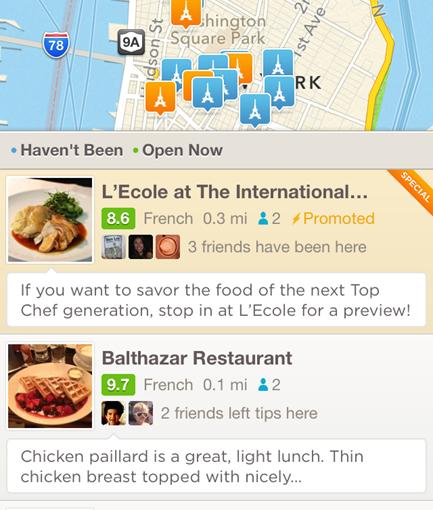 Foursquare permite pagos para posicionar mejor los comercios