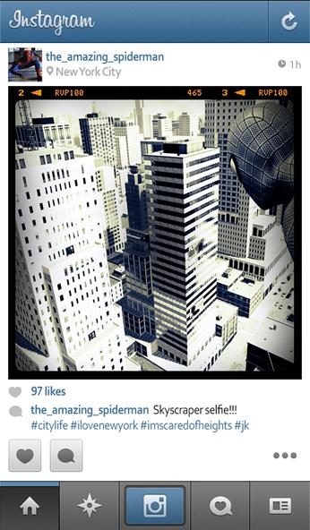 spiderman instagram - unpocogeek.com