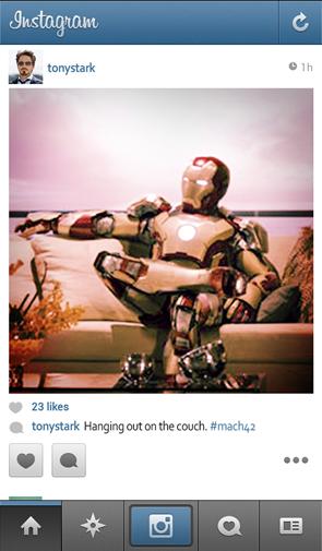 tonystark instagram - unpocogeek.com