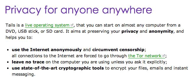 Tails, distro linux súper segura enfocada en la privacidad