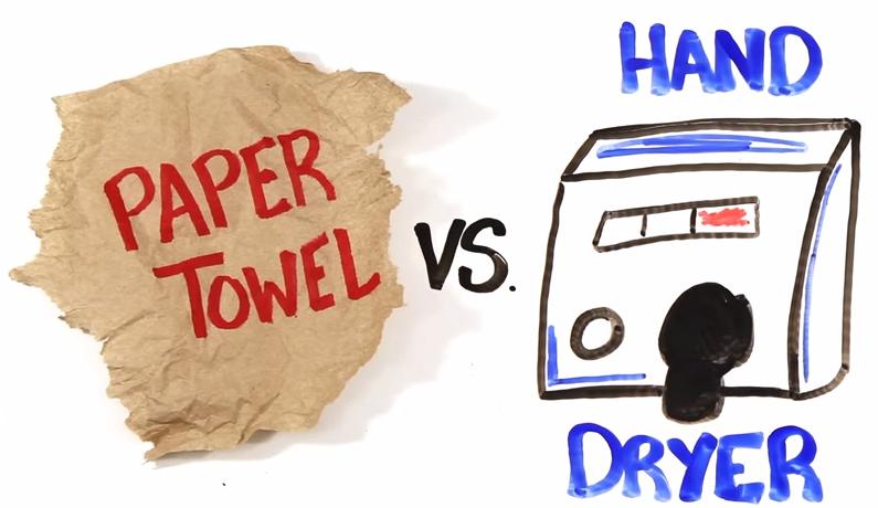 Toallas de papel o secador de manos unpocogeek - Secador de toallas ...