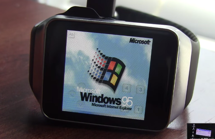Windows 95 on Android Wear - unpocogeek.com
