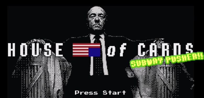 Parodia de House of Cards en 8 bits