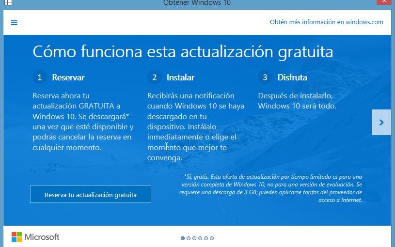 Windows 10 disponible el 29 de Julio
