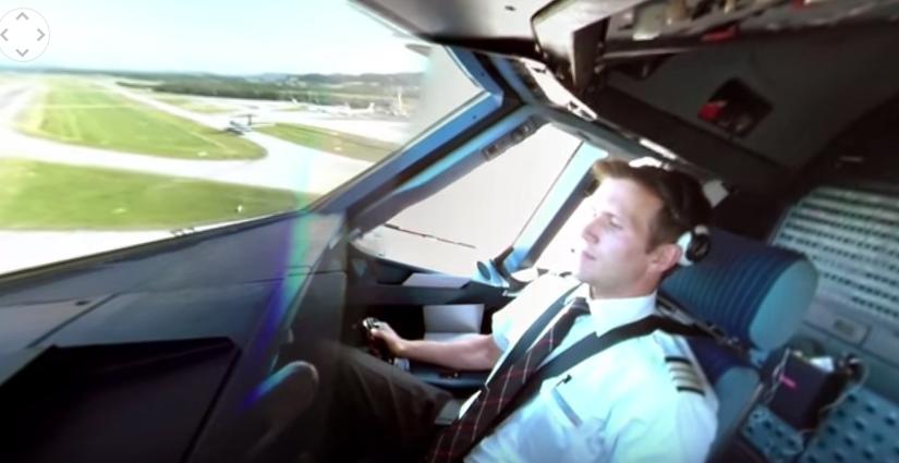 Video del despegue de un Airbus A320 desde su cabina en 360 grados