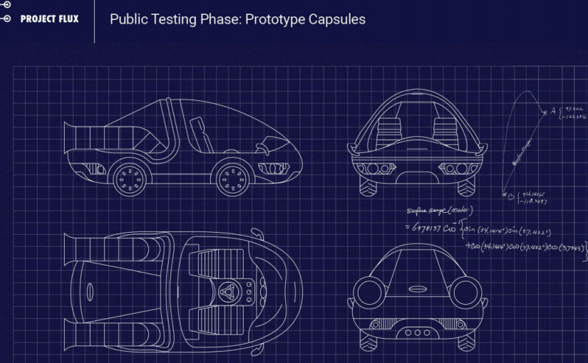 """Planos del auto de Google que """"viaja en el tiempo"""""""