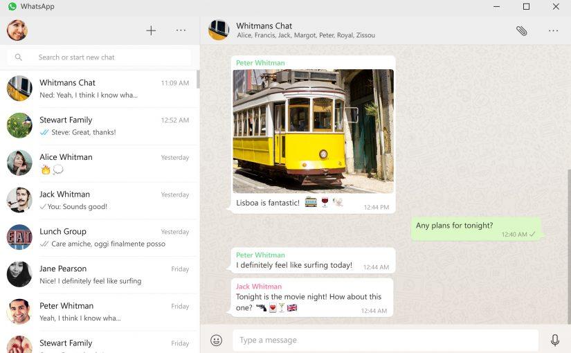 WhatsApp lanza su aplicación nativa para Windows y OS X