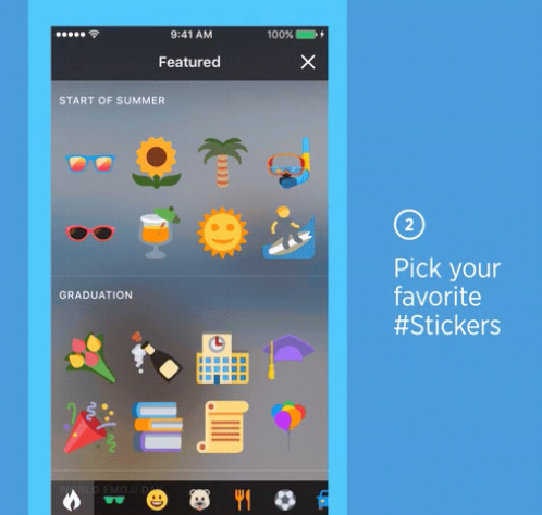 Twitter agrega stickers...