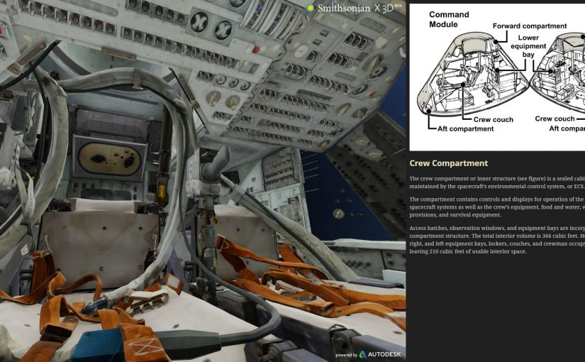 Apollo 11 escaneado en 3D