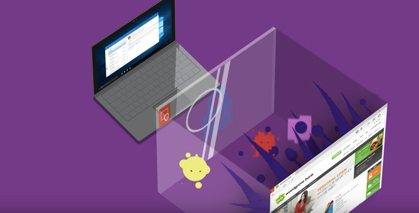Microsoft Edge en un entorno virtual seguridad