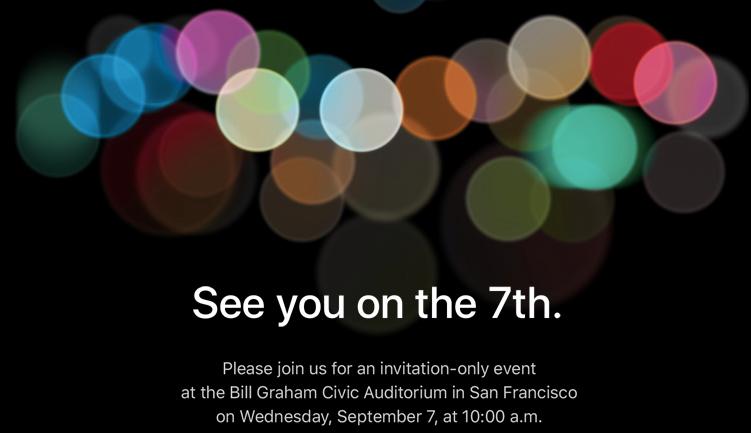 iPhone 7 evento de lanzamiento de Apple