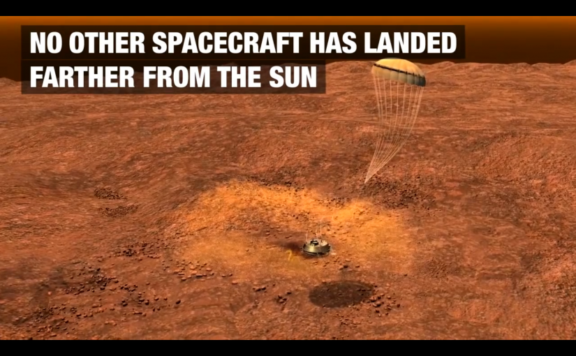 Video del aterrizaje de la sonda Huygens en Titán, una de las lunas de Saturno