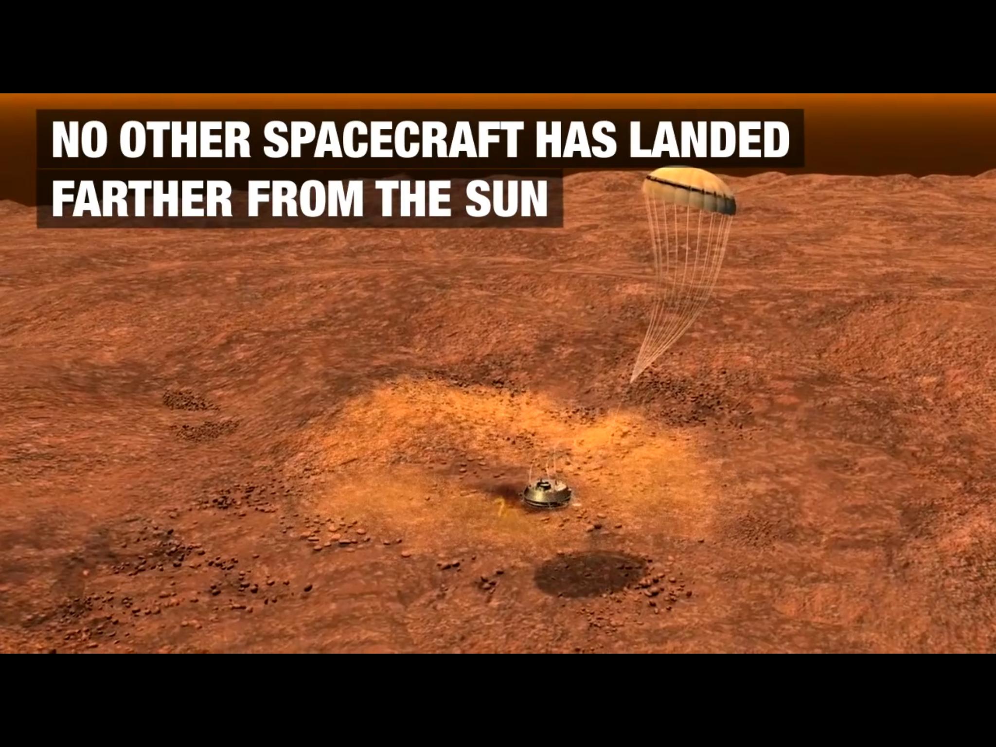 Huygens Probé titan landing video