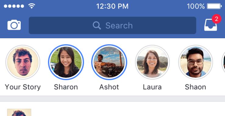 Facebook Stories iOS