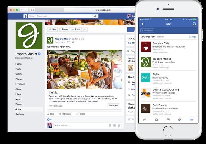 Facebook, jobs posting