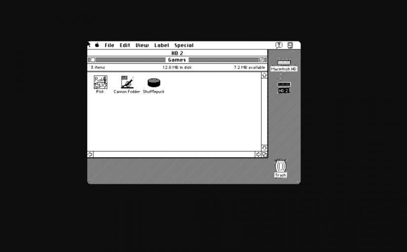 Emulador online con las aplicaciones de Apple de 1985
