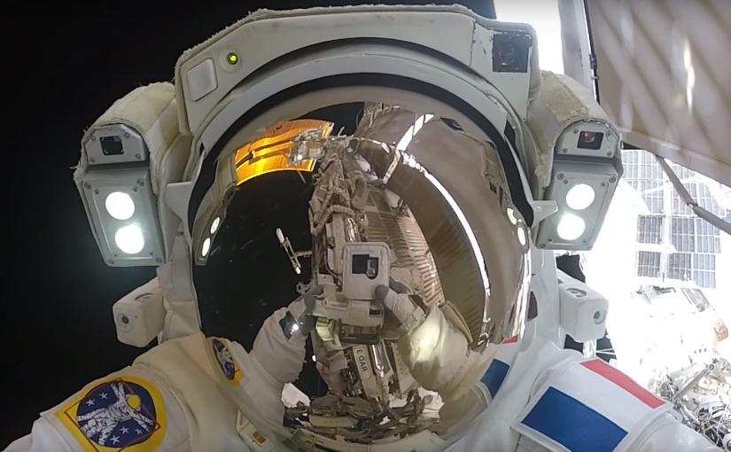 Espectacular video de una caminata espacial en la Estación Espacial Internacional