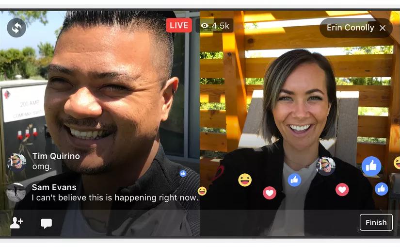Facebook permitirá transmitir en vivo de a dos personas al mismo tiempo