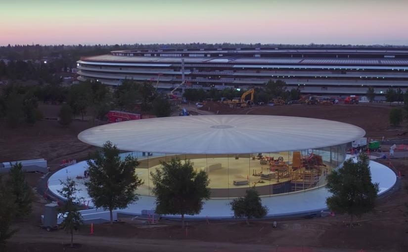 Un vistazo aéreo al casi finalizado Apple Park