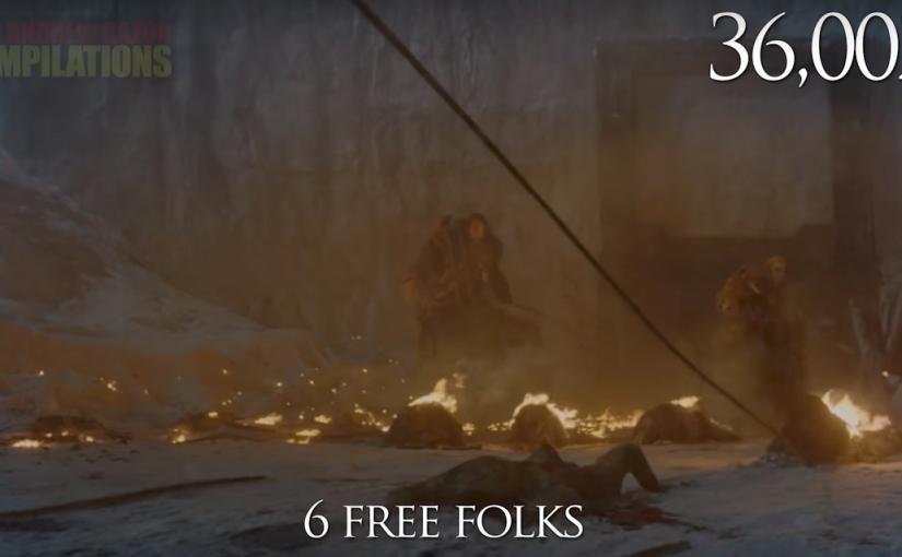 Game of Thrones, contador de muertes, cada una con su correspondiente escena