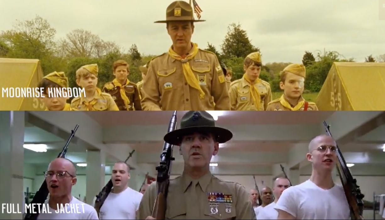 Escenas similares en diferentes películas