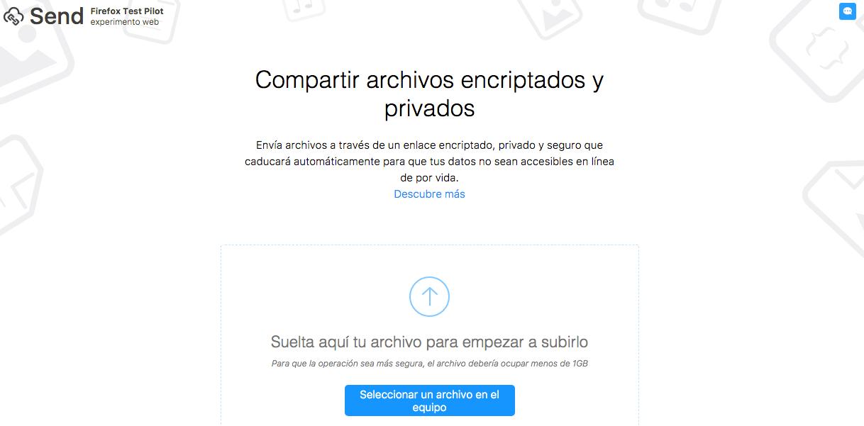 Firefox Send, archivos que se borran automaticamente