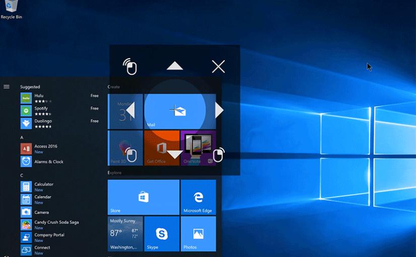 Windows 10 más accesible para personas con poca o ninguna movilidad