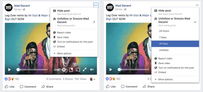 Silenciar publicaciones en Facebook