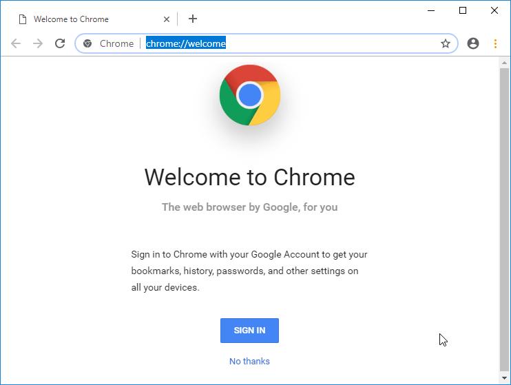 Chrome 69 mas alineado con material design en sus tabs y barra de busqueda