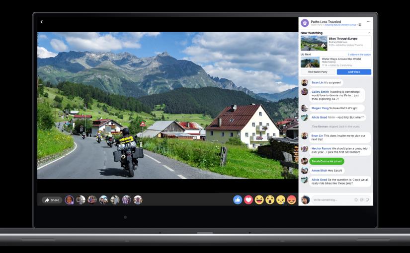 """Facebook lanza """"Watch Party"""" para ver videos con amigos"""