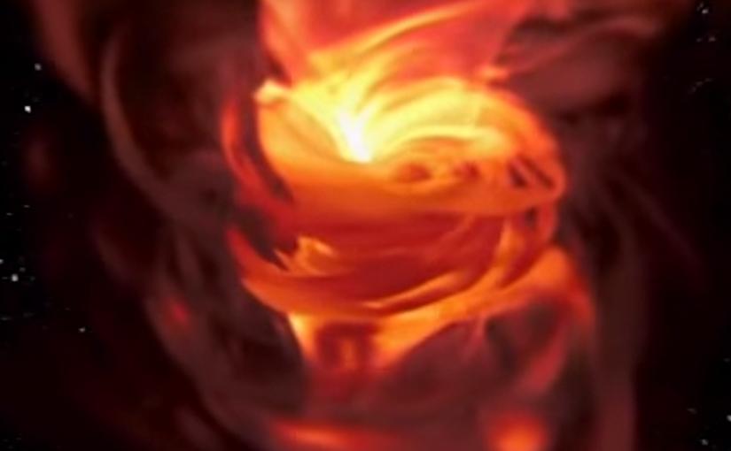 Visualización de un agujero negro en 360 y VR