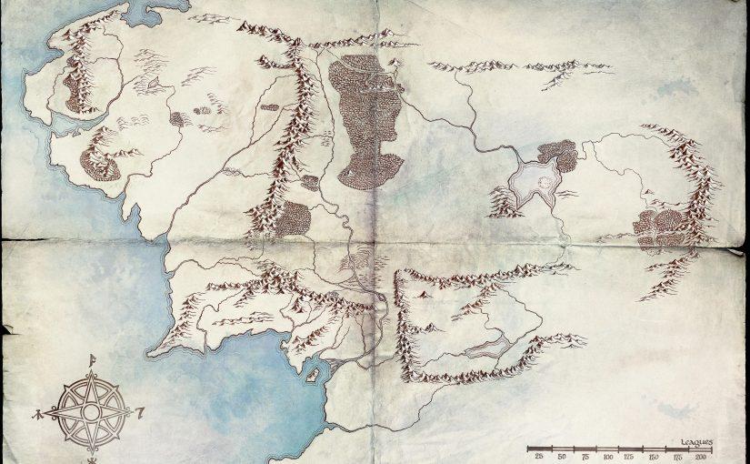 Mapa de la tierra media sobre la serie que prepara Amazon del mundo de Tolkien